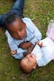 Frère et soeur africains Photo libre de droits
