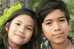Frère et soeur heureux 3 Images libres de droits