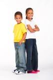 Frère et soeur orientaux Photographie stock