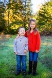 Frère et soeur Together Photos stock