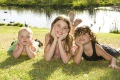 Frère et soeurs Photo stock