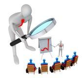 Frère observant la stratégie marketing Image stock