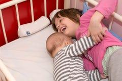 Frère And Sister de bébé Image libre de droits