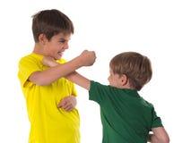 Frères combattant - simulation photos stock