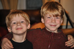 Frères comme amis Photographie stock libre de droits