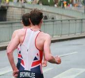 Frères de Brownlee, running-2 Photos stock