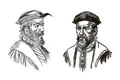 Frères de Pinzon, marins espagnols et explorateurs images stock
