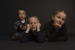 Frères et soeur Photos stock