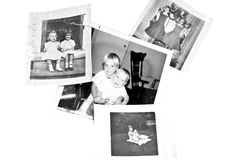 Frères et soeurs/rétro Photos stock