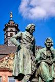 Frères Grimm dans Hanau, Allemagne image stock