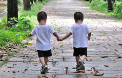Frères jumeaux Photo libre de droits