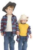 Frères soupçonneux de cowboy Photo libre de droits