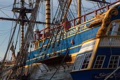 Frégate dans le port de Goteborg, Suède image libre de droits