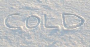 Frío Imagen de archivo libre de regalías