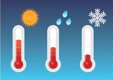 Frío, caliente, y caliente Foto de archivo libre de regalías