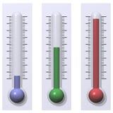 Frío, caliente, y caliente ilustración del vector