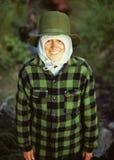 Frío, pero sonrisa imágenes de archivo libres de regalías