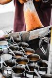 frío tailandés de la leche del viejo estilo del coffeeshop Foto de archivo libre de regalías