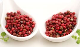 Frö för röd peppar Royaltyfri Foto