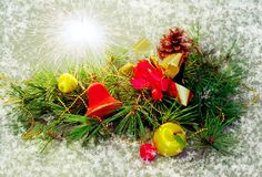 Fröhliche Christmasl Postkarte Lizenzfreie Stockfotos