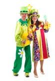 Fröhliche Clowne Lizenzfreies Stockbild