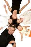 Fröhliche Familie Stockfoto
