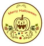 Fröhliche Halloween-Illustration Stockbild