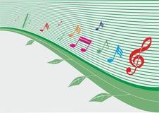 Fröhliche musikalische Reihe Lizenzfreie Stockbilder