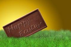 Fröhliche Ostern auf goldenem Hintergrund Lizenzfreies Stockbild