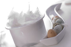 Fröhliche Ostern - Eier lizenzfreies stockbild