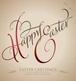 ?fröhliche Ostern-? Handbeschriftung Lizenzfreie Stockfotos