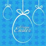 Fröhliche Ostern mit Stern Lizenzfreies Stockbild