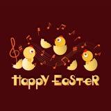 Fröhliche Ostern Musikalische Glückwünsche lizenzfreie abbildung