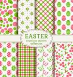 Fröhliche Ostern! Nahtlose Muster des Vektors Stockbild
