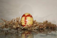 Fröhliche Ostern! Slawische traditionelle Osterei-Dekoration Lizenzfreie Stockfotografie