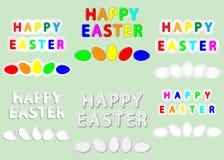 Fröhliche Ostern und Eier stock abbildung