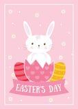 Fröhliche Ostern und Häschen stockbild