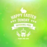 Fröhliche Ostern! Vektorkarte mit unscharfem Hintergrund vektor abbildung