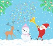 Fröhliche Weihnachtsfestvektorillustration Lizenzfreies Stockfoto