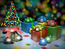 Fröhliche Weihnachtsgeschenke Lizenzfreie Stockfotografie