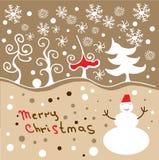 Fröhliche Weihnachtskarte Lizenzfreie Stockfotos