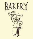 Fröhlicher Bäcker Stockbild