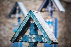 Fröhlicher Kirchhof in Sapanta, Rumänien Lizenzfreie Stockfotografie