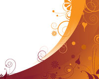 Fröhlicher orange Blumenhintergrund Lizenzfreie Stockfotografie