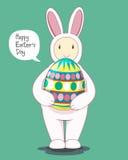 Fröhlicher Ostern Taghäschen Stockbild