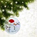 Fröhlicher Schneemann stock abbildung