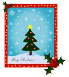 Fröhlicher Weihnachtsbaum vektor abbildung