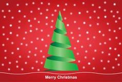 Fröhlicher Weihnachtsbaum Lizenzfreie Abbildung