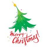 Fröhlicher Weihnachtsbaum Stockfotos