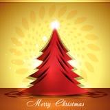 Fröhlicher Weihnachtsbaum-Hintergrund Stockfotografie